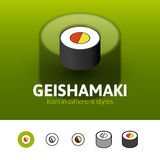 Geishamaki icon in different style Royalty Free Stock Images