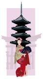 geishapagoda Royaltyfria Foton