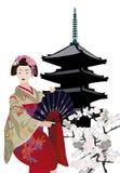 geishapagoda Arkivfoton