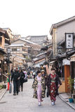 Geishas av Kyoto Royaltyfri Fotografi