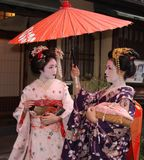 Geishas in Gion, Kyoto Royalty Free Stock Photos