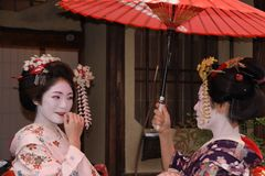 Geishas in Gion, Kyoto Stock Photography