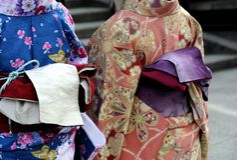 Geishas in kimono Royalty Free Stock Photography