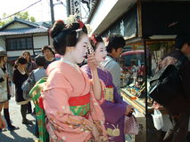 Geishas in Kyoto Stock Image
