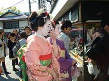 Geishas in Kyoto Stock Image