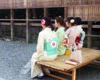 Geishas in Kyoto Royalty Free Stock Photo