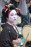Geishas in Ueno park, Japan. Royalty Free Stock Image