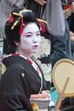 Geishas in Ueno park, Japan. Royalty Free Stock Image