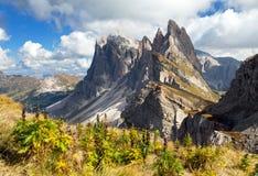 Geislergruppe or Gruppo delle Odle, Italian Dolomites Stock Photography