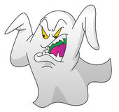 Geist Screamy auf lokalisiertem Weiß Lizenzfreies Stockfoto