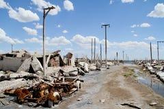 Geist-Stadt - Epecuen, Argentinien Stockfotografie