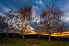 Geist und orange Sonnenuntergang Stockfotos