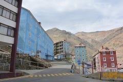 Geistbergbaustadt von Sewell, Chile lizenzfreies stockfoto