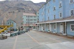 Geistbergbaustadt von Sewell, Chile Stockbild