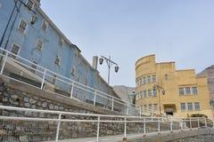 Geistbergbaustadt von Sewell, Chile Stockfotos