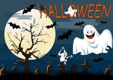 Geister mit Halloween-Hintergrund Stockfotografie