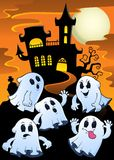 Geister nähern sich Geisterhausthema 1 Lizenzfreies Stockbild
