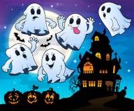 Geister nähern sich Geisterhausthema 4 Lizenzfreie Stockfotos
