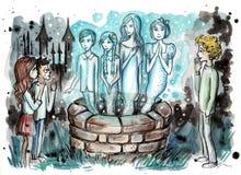 Geister vom Brunnen Stockfoto