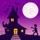 Geisterhaus mit Zombie Stockfoto
