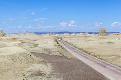 Geisterstadt der Welt bei Xinjiang Stockfoto