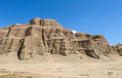 Geisterstadt der Welt bei Xinjiang Lizenzfreies Stockbild