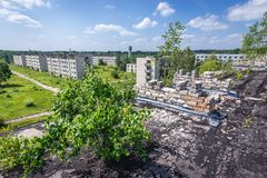 Geisterstadt in Lettland lizenzfreie stockfotografie