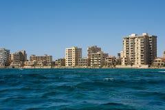 Geisterstadt in Nordzypern stockbilder