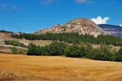 Geisterstadt von Escó, Spanien Stockfotografie
