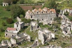 Geisterstadt von Kayakoy in Fethiye (die Türkei) Lizenzfreie Stockfotografie