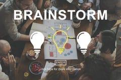 Geistesblitz-kreative Ideen-Diskussions-denkendes Konzept stockfotografie