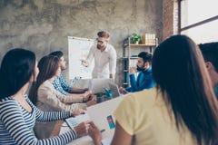 Geistesblitzkonzept Gruppe Partner besprechen das Projekt lizenzfreies stockfoto