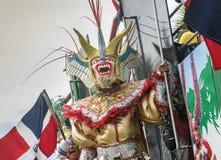 Geisteskranker Teufel am Karneval Lizenzfreie Stockfotos