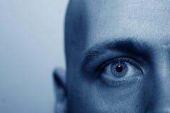 Geisteskrankes Auge Stockbild