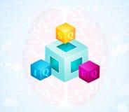Geistiger emotionaler Intelligenz-Quotient Stockfoto