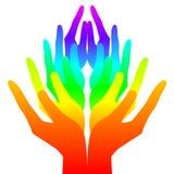 Geistigkeit, Frieden und Liebe vektor abbildung