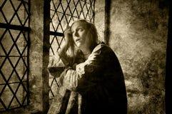 Geistlich - kranke Frau lizenzfreie stockbilder