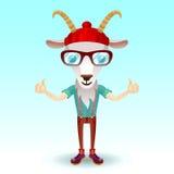 Geit hipster karakter Stock Afbeelding