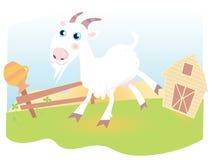 Geit op landbouwbedrijf stock illustratie
