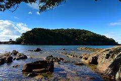 Geiteiland Marine Reserve, populair voor strandactiviteiten en het snorkelen royalty-vrije stock afbeelding