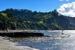 Geiteiland Marine Reserve, populair voor strandactiviteiten en het snorkelen stock fotografie