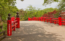 Gejo-bashi bro av den Hirosaki slotten, Hirosaki stad, Japan Arkivfoton