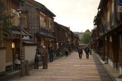 Gejszy ćwiartka, Kanazawa, Japonia Obraz Stock