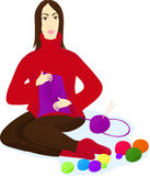 gejtawy target2598_1_ igielnej kobiety ilustracja wektor