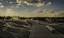 Gejzeru ślad wokoło Stary Wiernego przy Wyoming Zdjęcia Stock