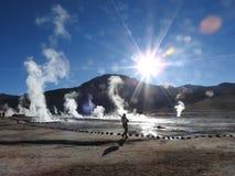 Gejzery Del Tatio, Atacama pustynia, Chile Obraz Stock