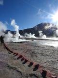 Gejzery Del Tatio, Atacama pustynia, Chile Zdjęcie Stock