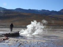 Gejzery Del Tatio, Atacama pustynia, Chile Zdjęcia Stock