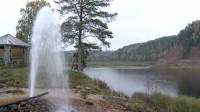 gejzery fontanna naturalna Wodny bicie na skałach Rzeka Góry zbiory