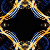 Gek Fractal Frame Royalty-vrije Stock Foto